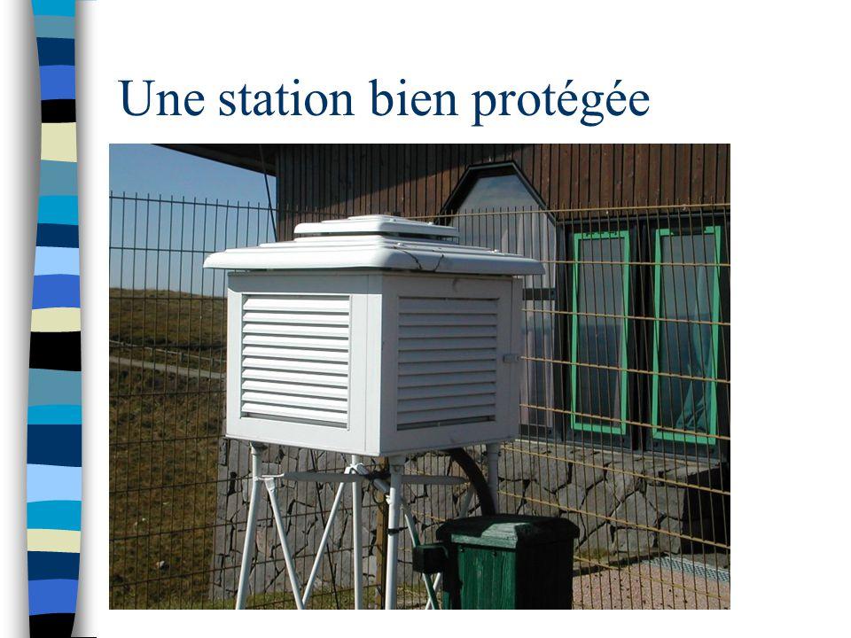 Une station bien protégée
