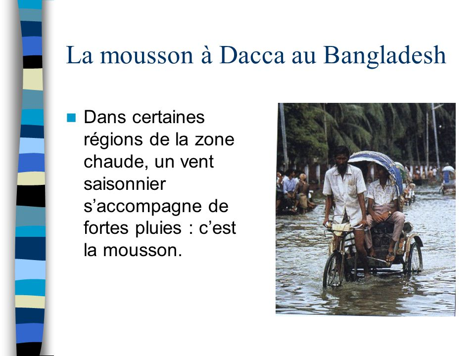 La mousson à Dacca au Bangladesh