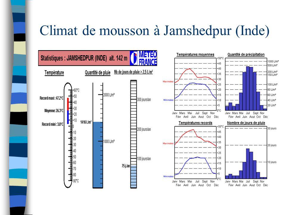Climat de mousson à Jamshedpur (Inde)