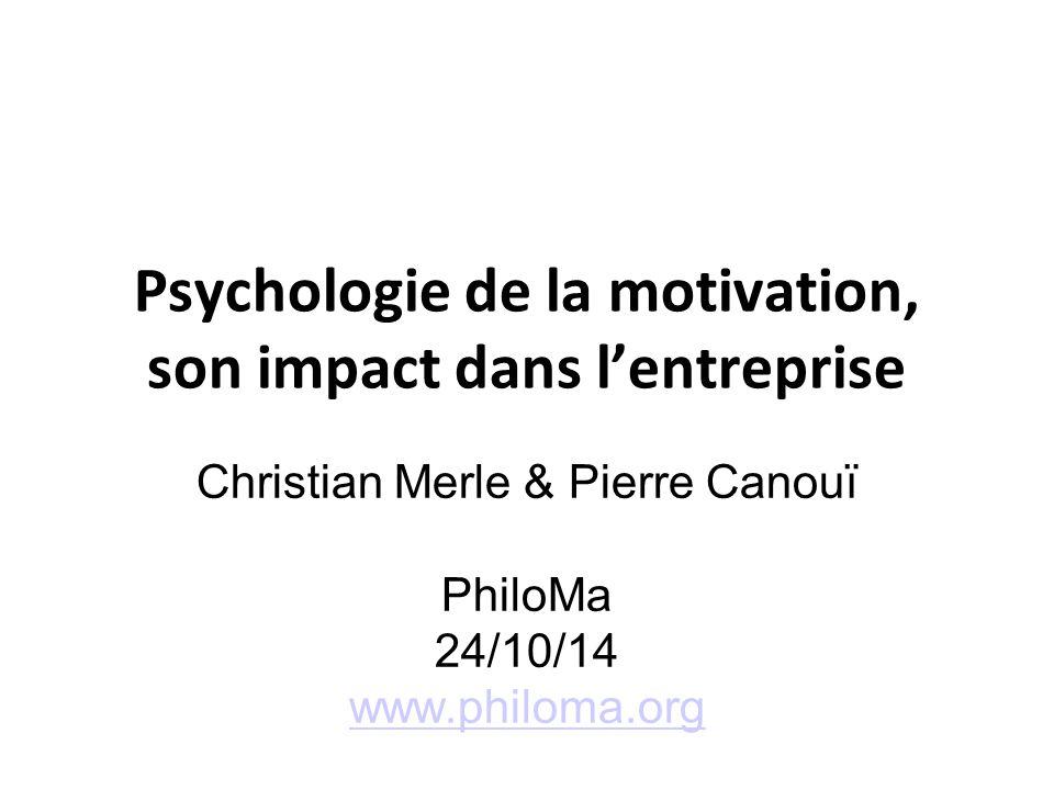 Psychologie de la motivation, son impact dans l'entreprise