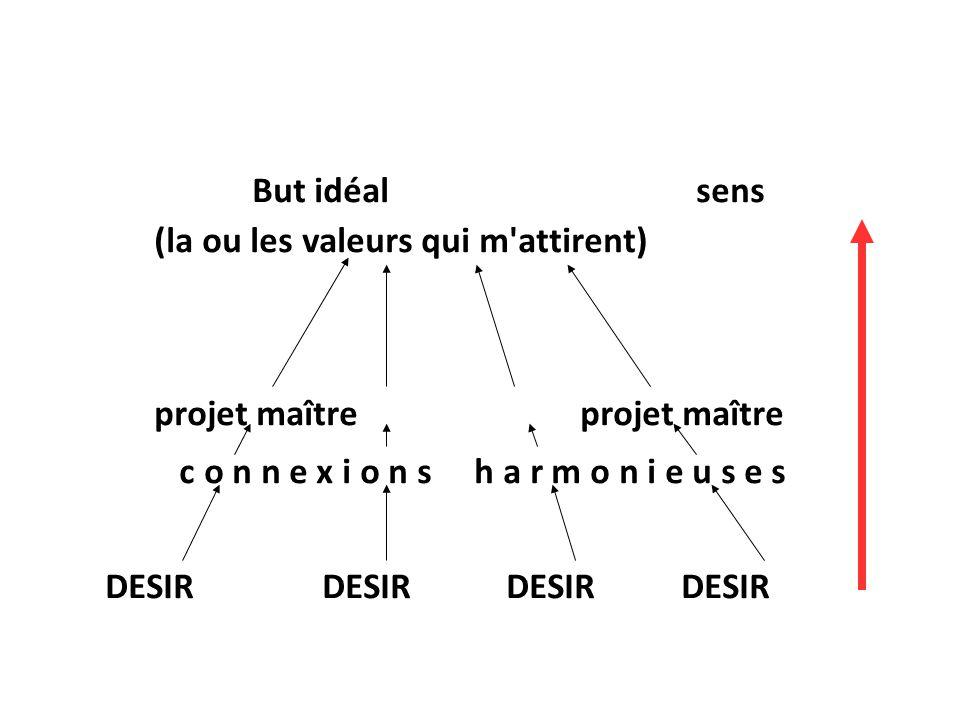 But idéal sens (la ou les valeurs qui m attirent) projet maître projet maître.