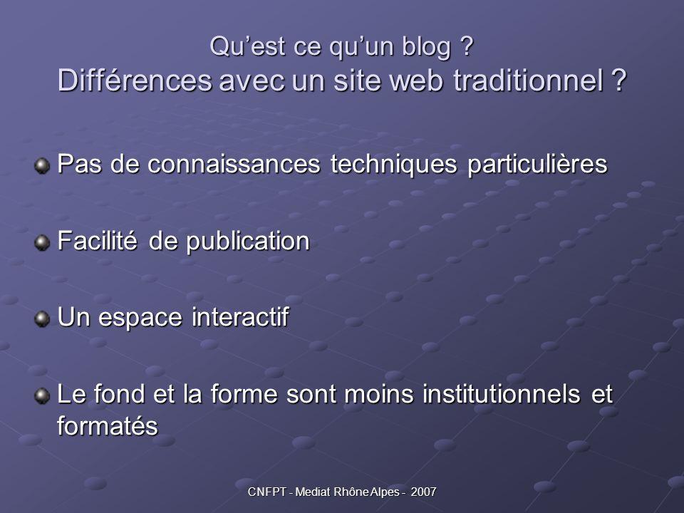 Qu'est ce qu'un blog Différences avec un site web traditionnel