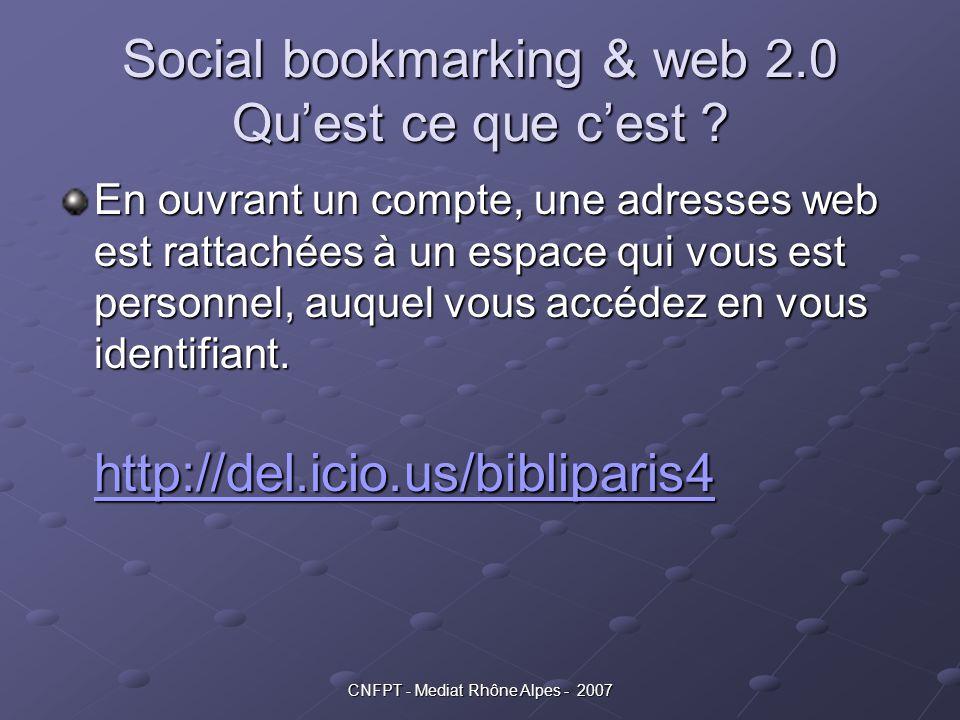 Social bookmarking & web 2.0 Qu'est ce que c'est
