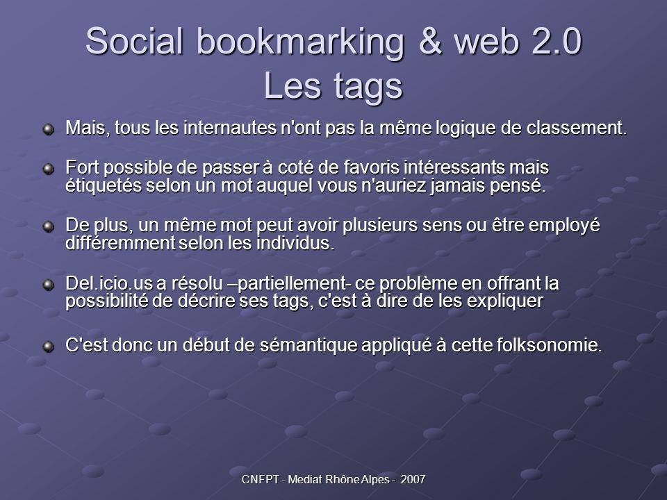 Social bookmarking & web 2.0 Les tags