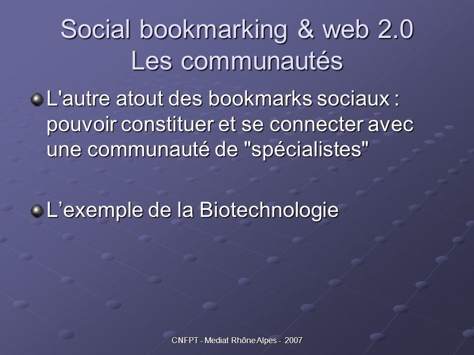 Social bookmarking & web 2.0 Les communautés