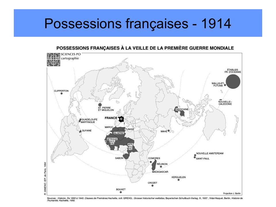 Possessions françaises - 1914