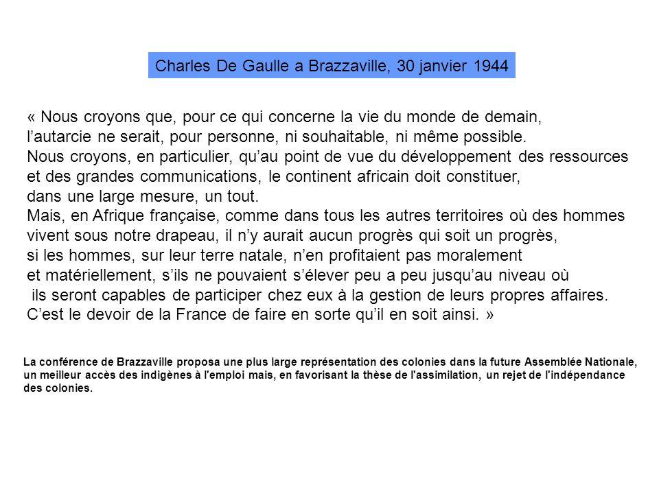 Charles De Gaulle a Brazzaville, 30 janvier 1944