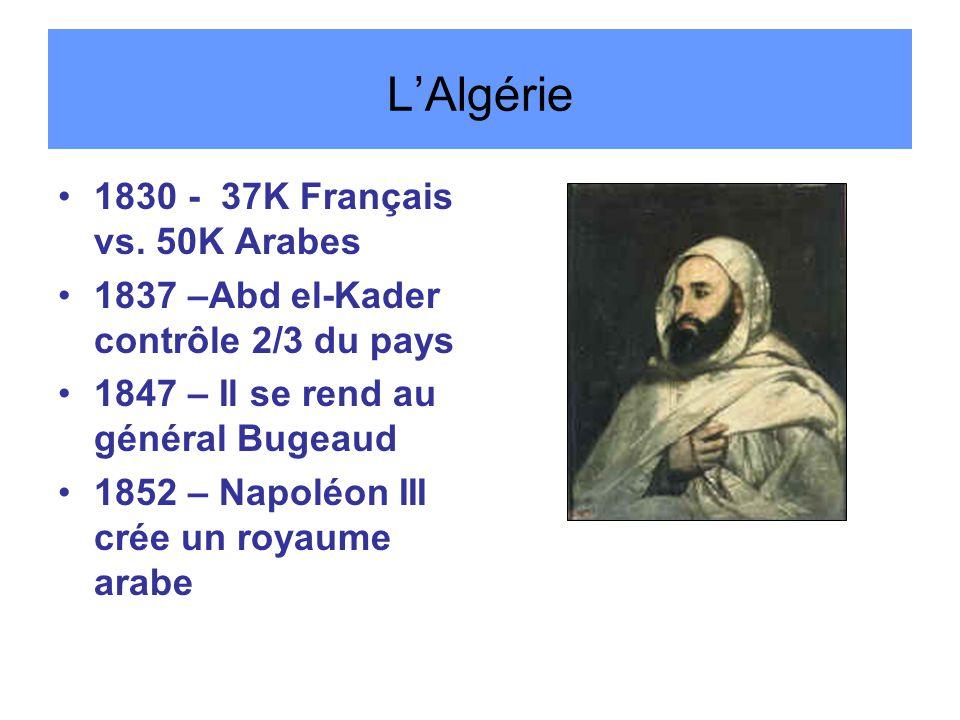 L'Algérie 1830 - 37K Français vs. 50K Arabes