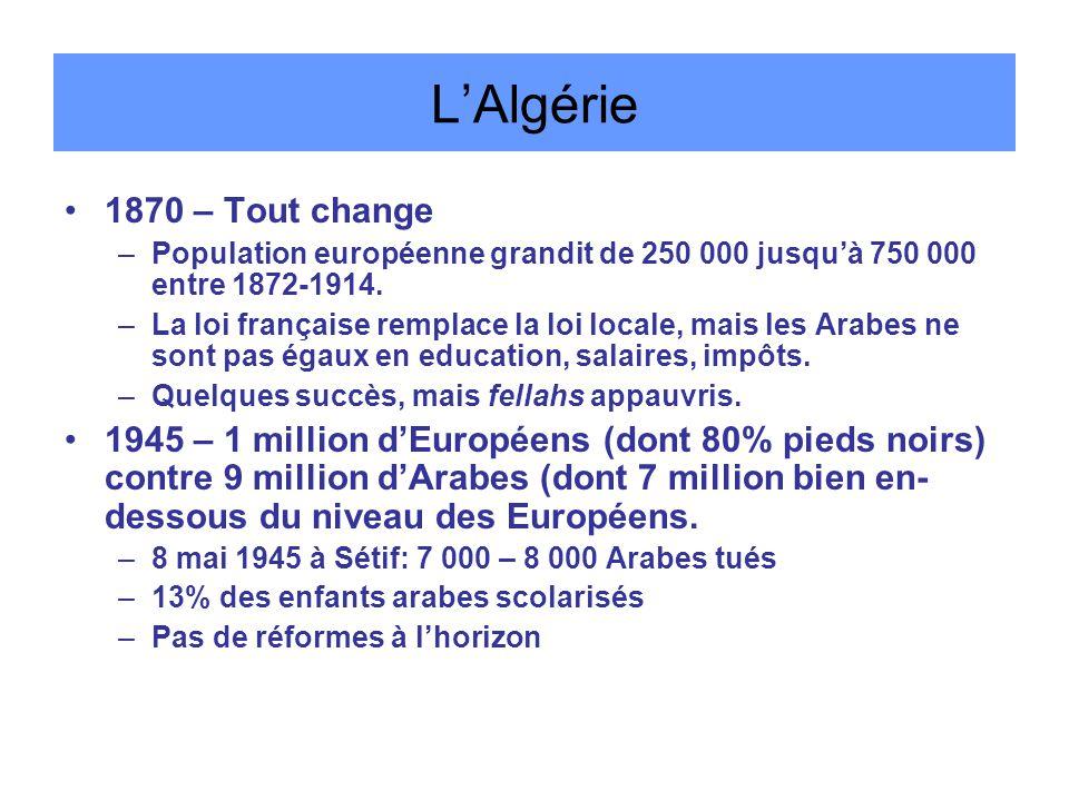 L'Algérie 1870 – Tout change
