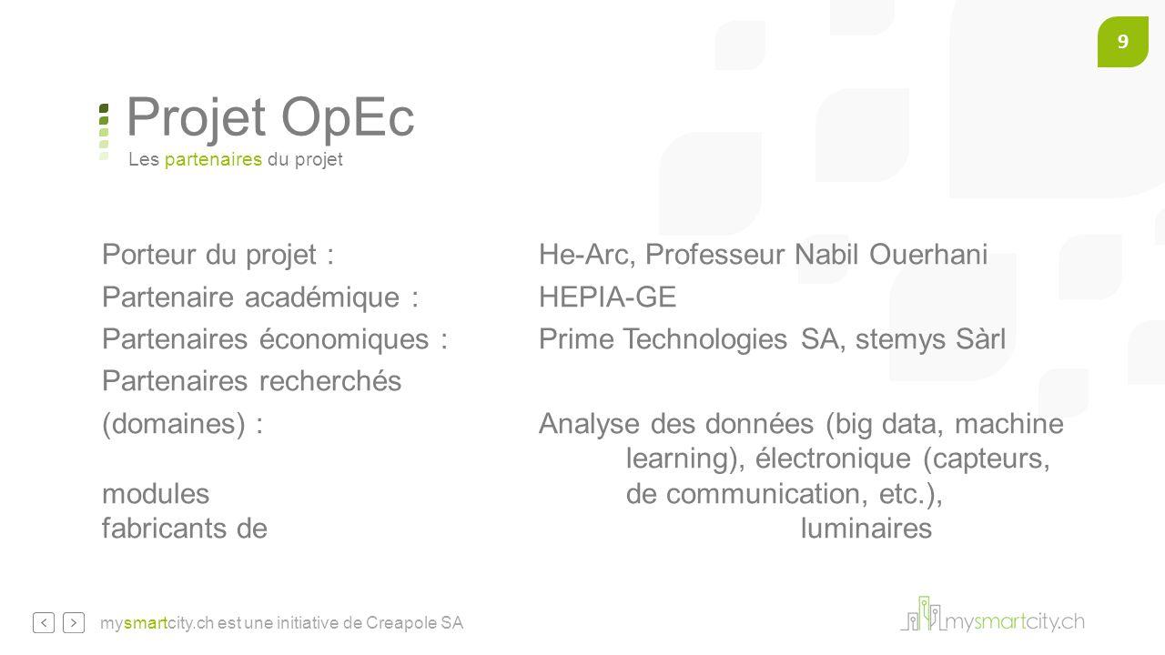 Projet OpEc Porteur du projet : He-Arc, Professeur Nabil Ouerhani