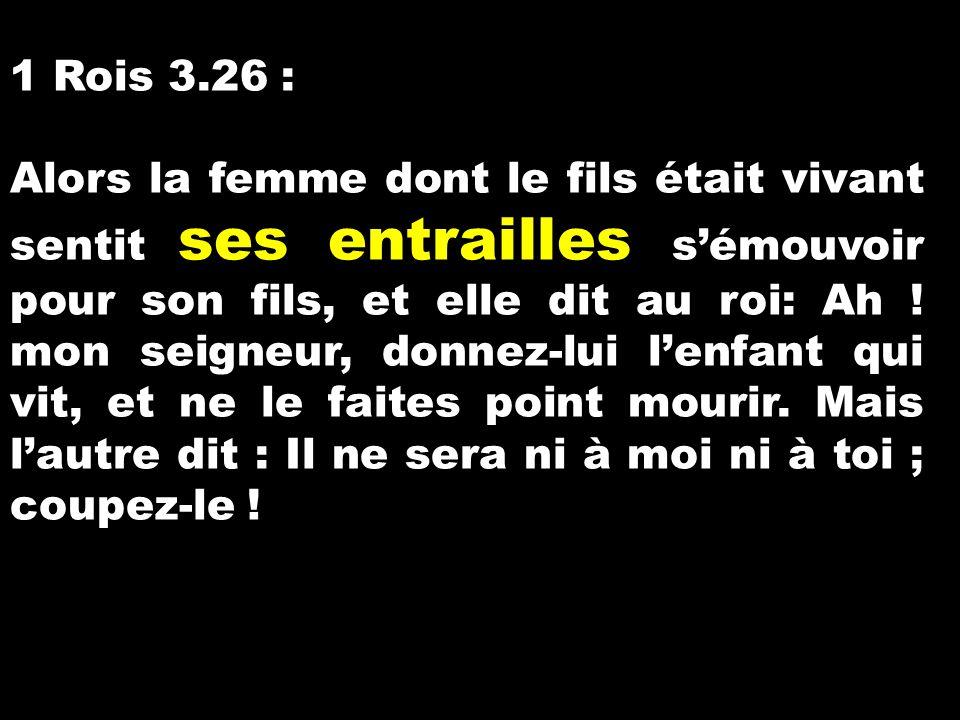 1 Rois 3.26 :