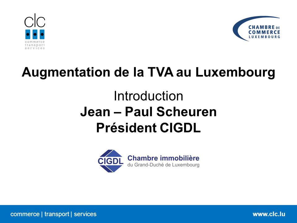 Augmentation de la TVA au Luxembourg