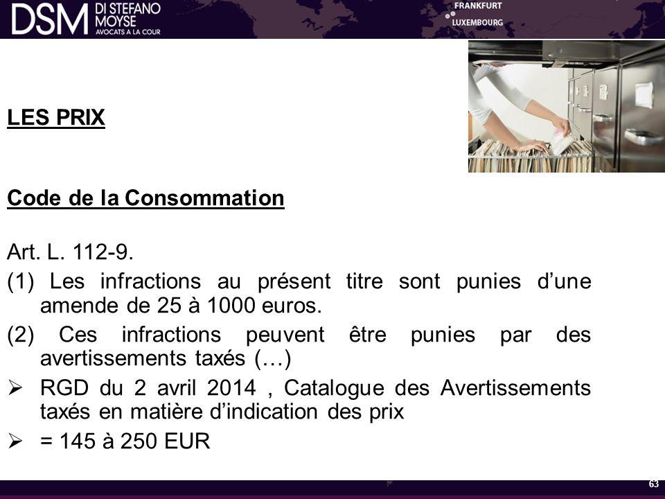 Code de la Consommation Art. L. 112-9.
