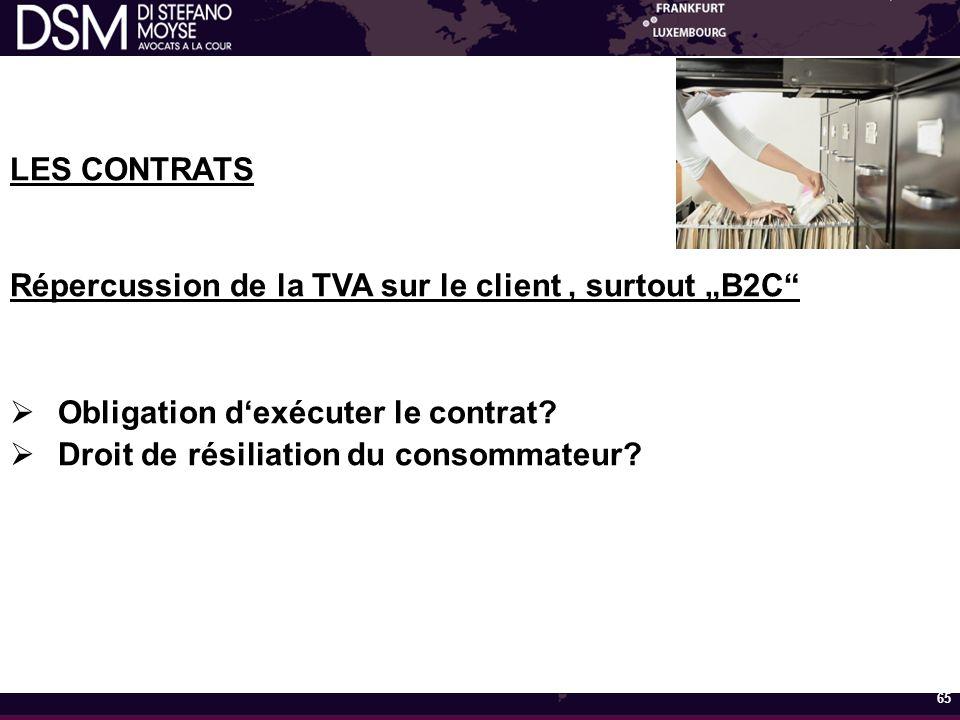 """Répercussion de la TVA sur le client , surtout """"B2C"""
