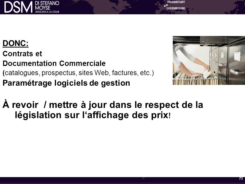 DONC: Contrats et. Documentation Commerciale. (catalogues, prospectus, sites Web, factures, etc.)