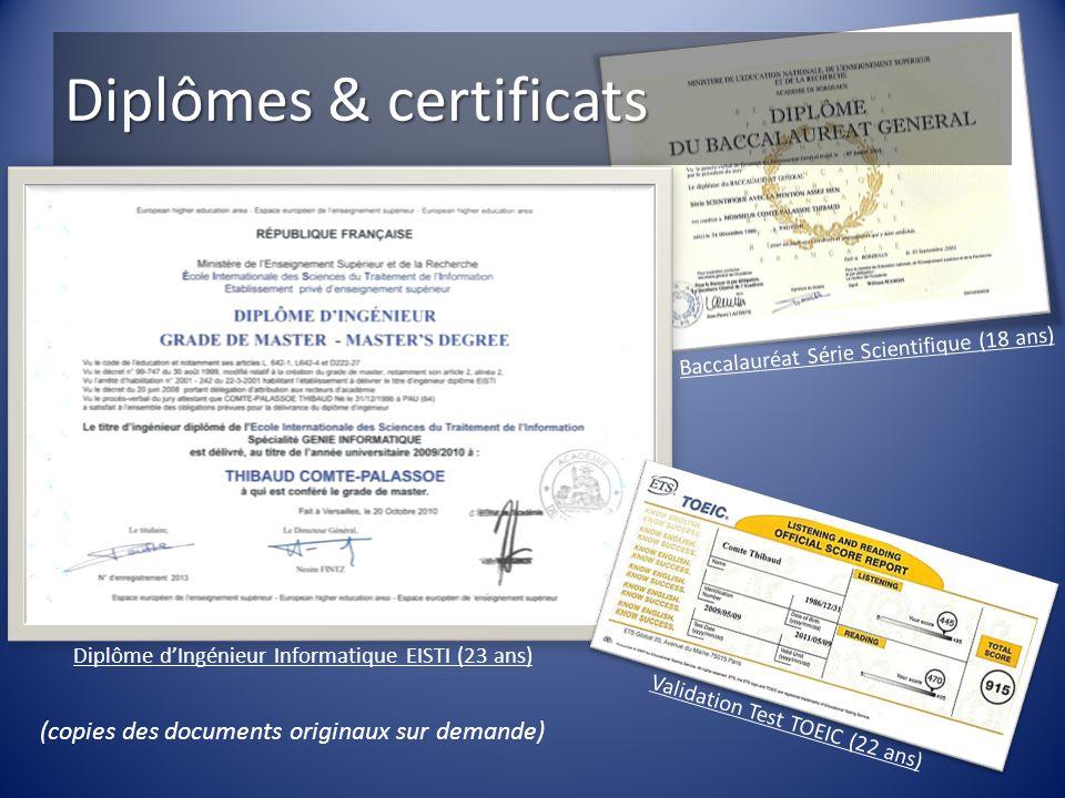 Diplômes & certificats