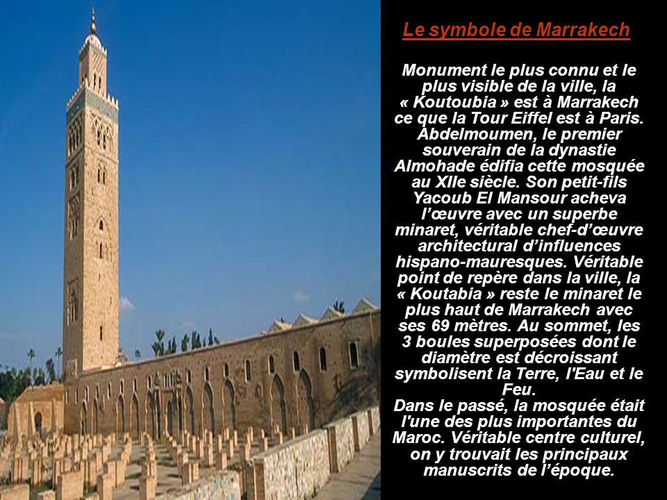 Le symbole de Marrakech