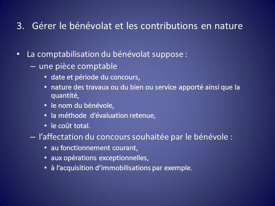 Gérer le bénévolat et les contributions en nature