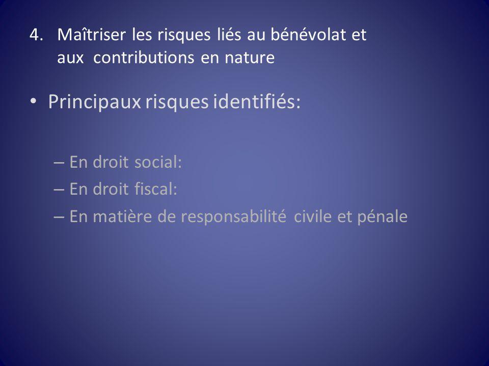 Maîtriser les risques liés au bénévolat et aux contributions en nature