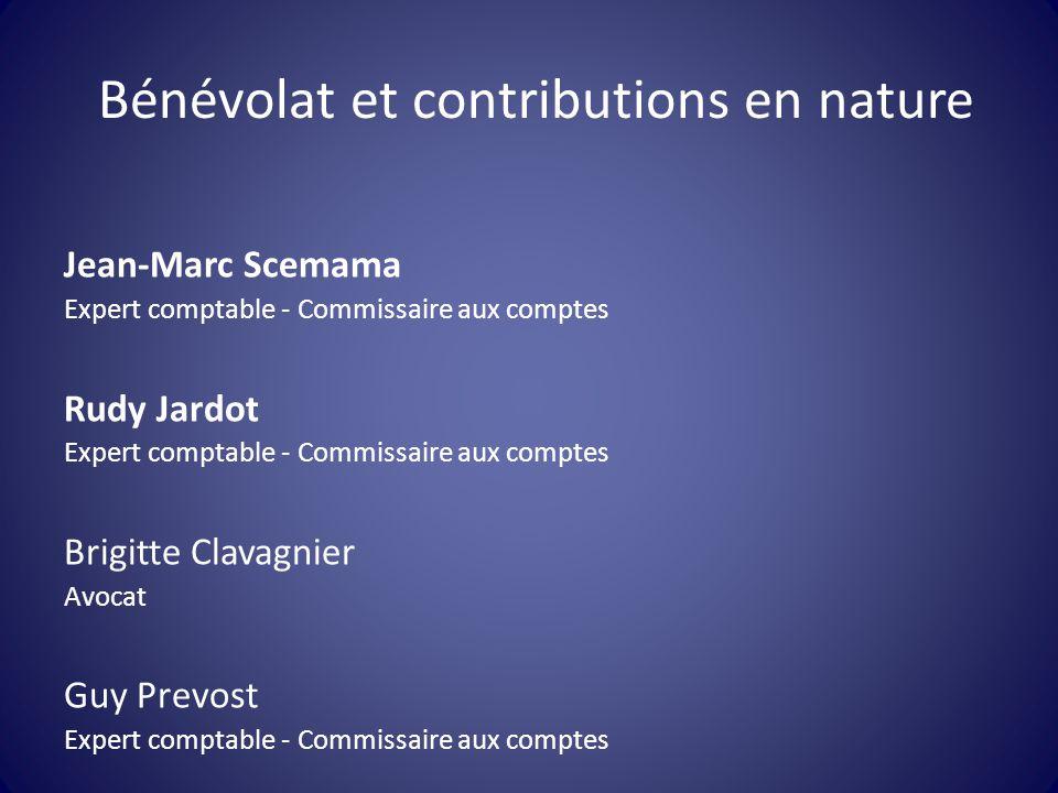 Bénévolat et contributions en nature