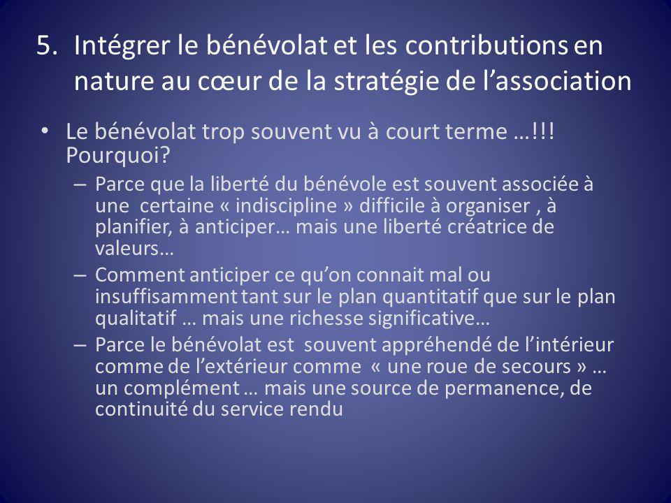 Intégrer le bénévolat et les contributions en nature au cœur de la stratégie de l'association