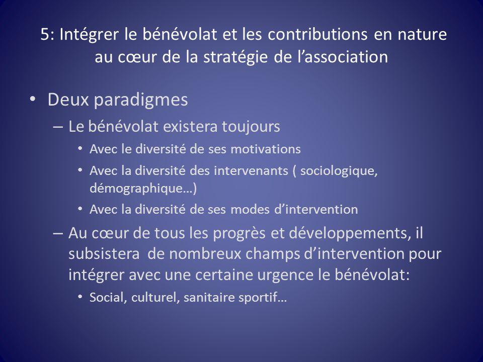 5: Intégrer le bénévolat et les contributions en nature au cœur de la stratégie de l'association