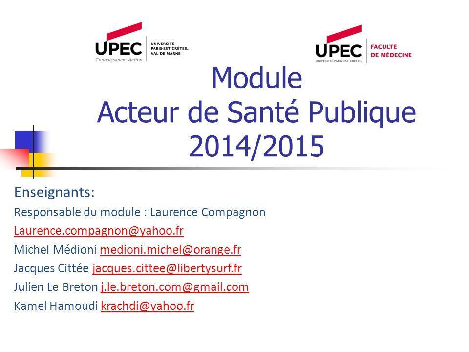 Module Acteur de Santé Publique 2014/2015