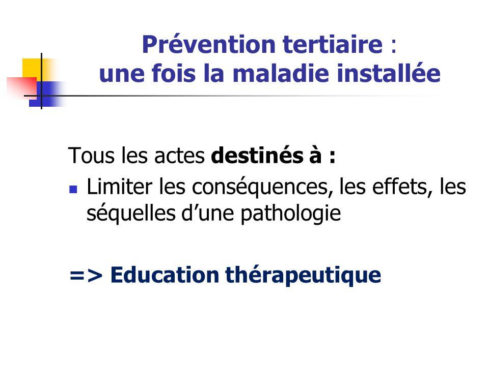 Prévention tertiaire : une fois la maladie installée