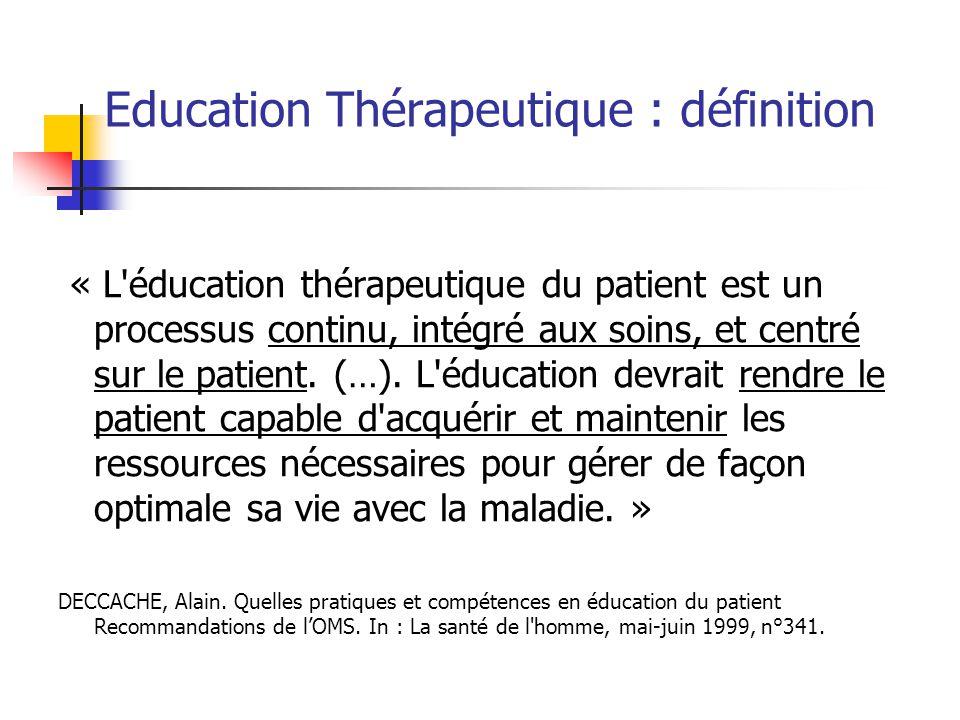 Education Thérapeutique : définition