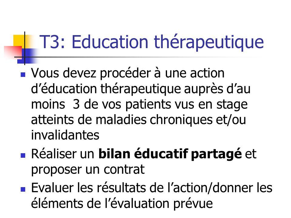 T3: Education thérapeutique