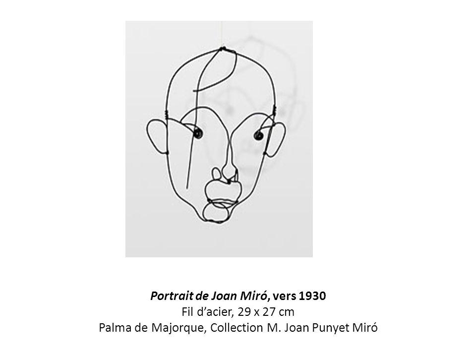 Portrait de Joan Miró, vers 1930 Fil d'acier, 29 x 27 cm Palma de Majorque, Collection M.