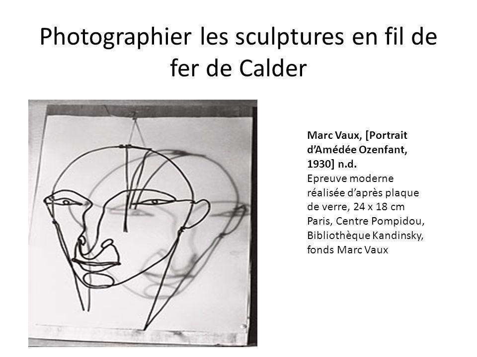 Photographier les sculptures en fil de fer de Calder
