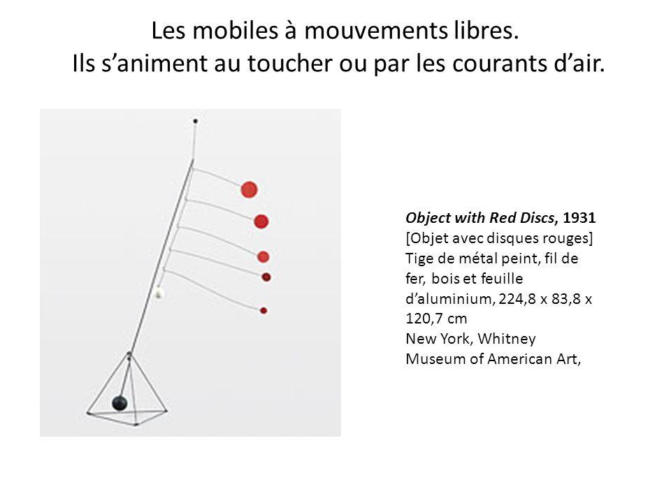 Les mobiles à mouvements libres