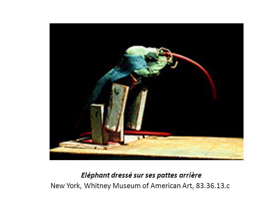 Eléphant dressé sur ses pattes arrière New York, Whitney Museum of American Art, 83.36.13.c