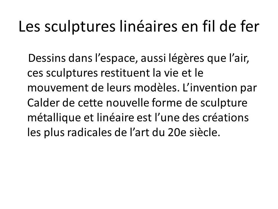 Les sculptures linéaires en fil de fer