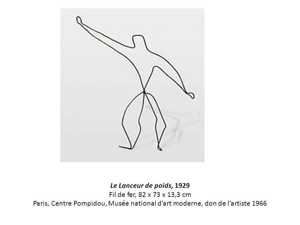 Le Lanceur de poids, 1929 Fil de fer, 82 x 73 x 13,3 cm Paris, Centre Pompidou, Musée national d'art moderne, don de l'artiste 1966