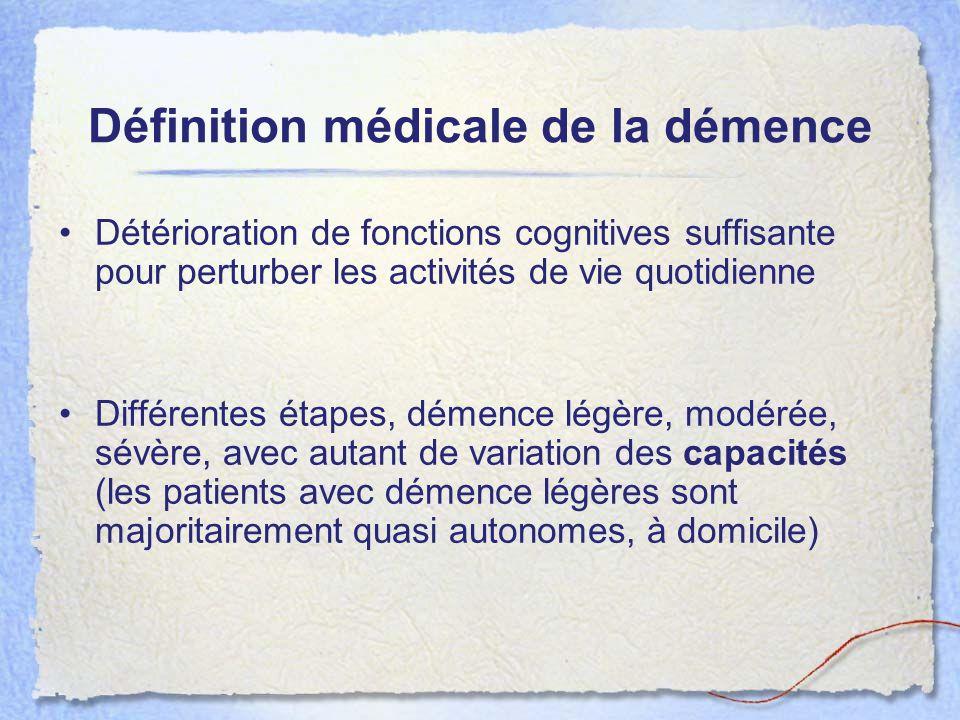 Définition médicale de la démence