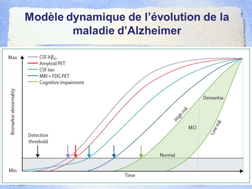 Modèle dynamique de l'évolution de la maladie d'Alzheimer