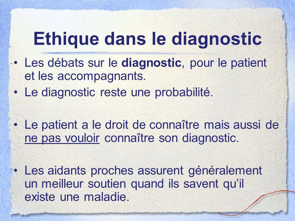 Ethique dans le diagnostic