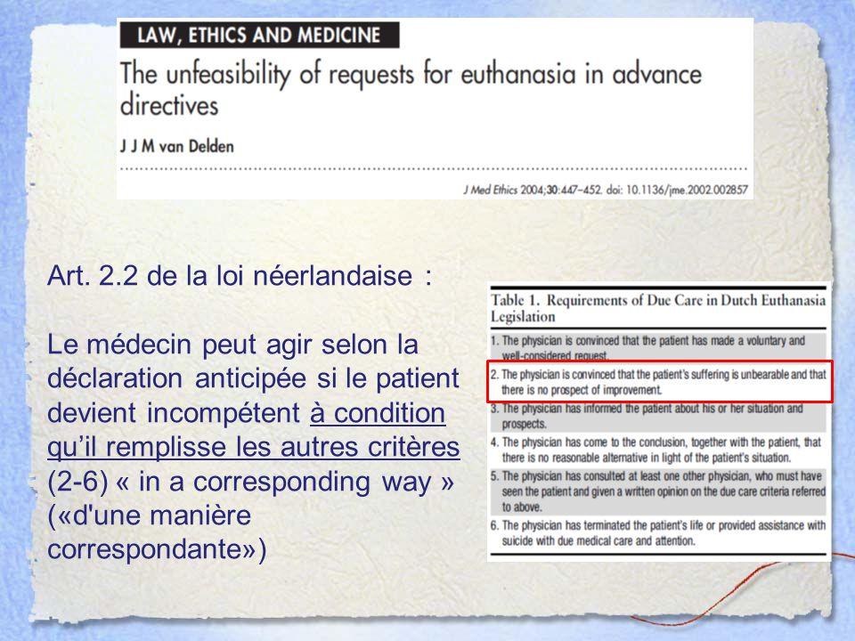 Art. 2.2 de la loi néerlandaise :