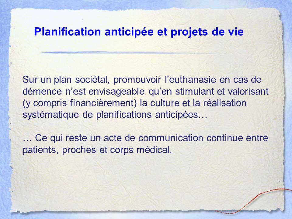 Planification anticipée et projets de vie