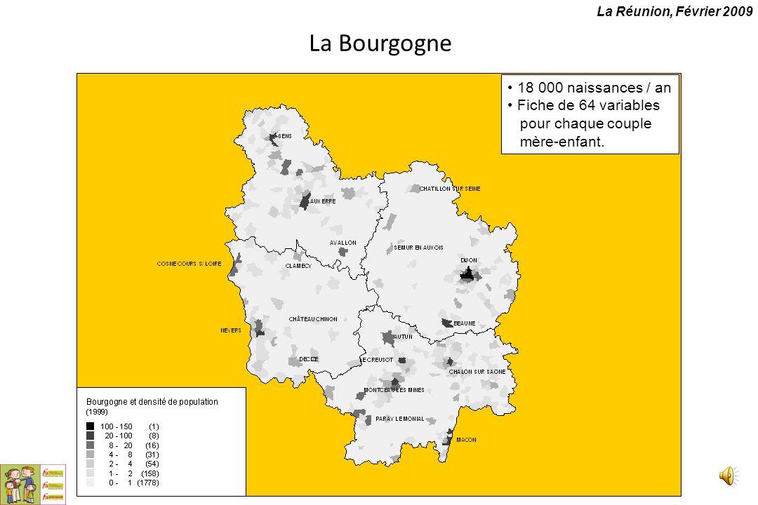 La Bourgogne 18 000 naissances / an Fiche de 64 variables