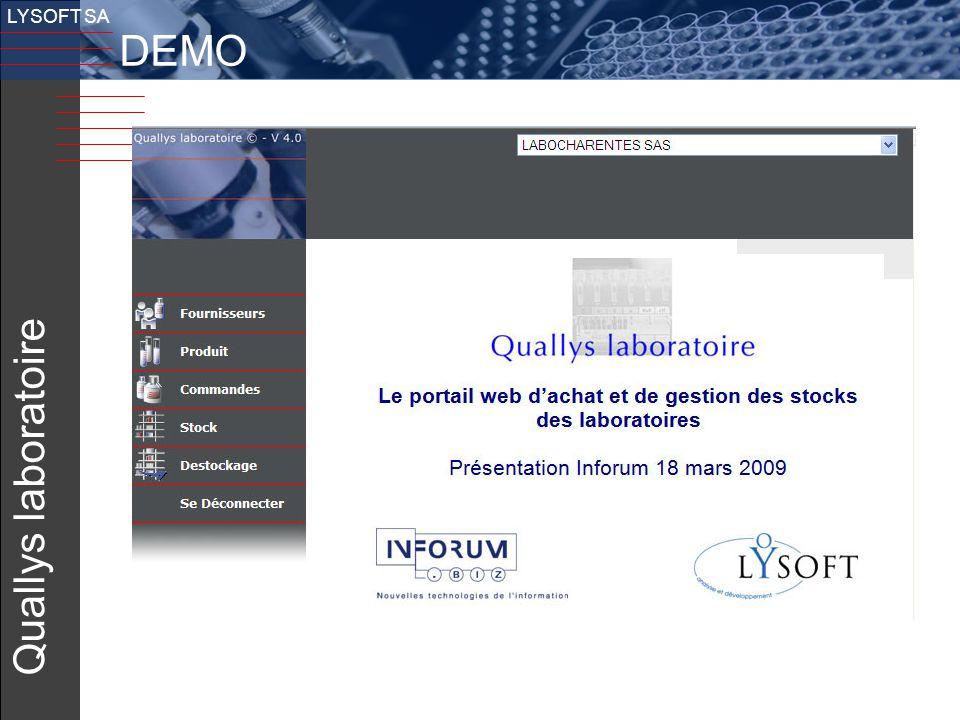 LYSOFT SA DEMO v Quallys laboratoire