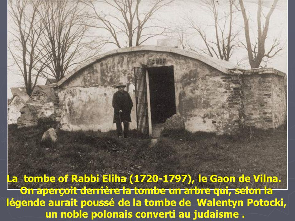 La tombe of Rabbi Eliha (1720-1797), le Gaon de Vilna.