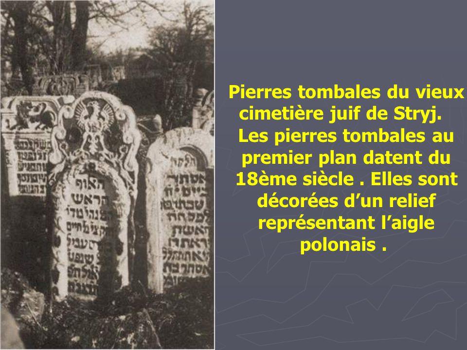 Pierres tombales du vieux cimetière juif de Stryj.