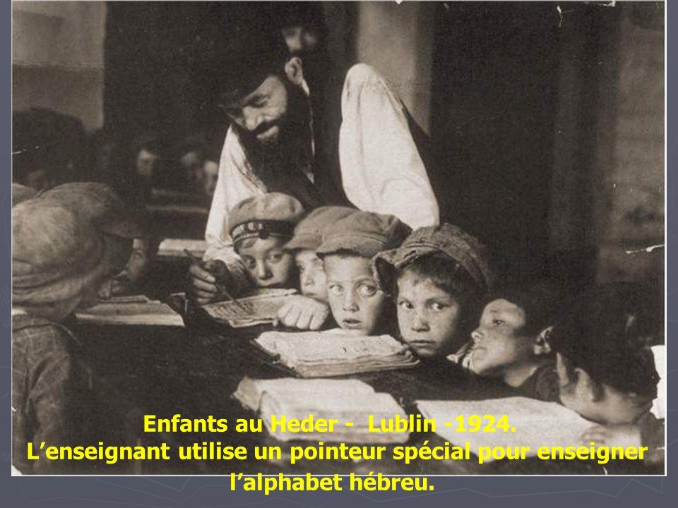 Enfants au Heder - Lublin -1924.