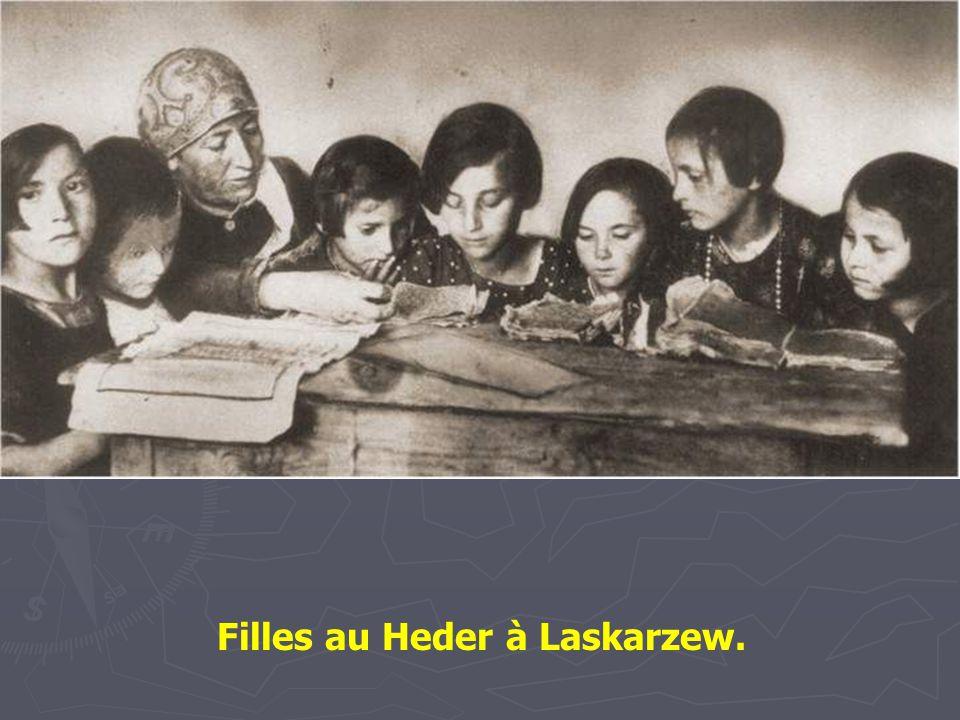 Filles au Heder à Laskarzew.