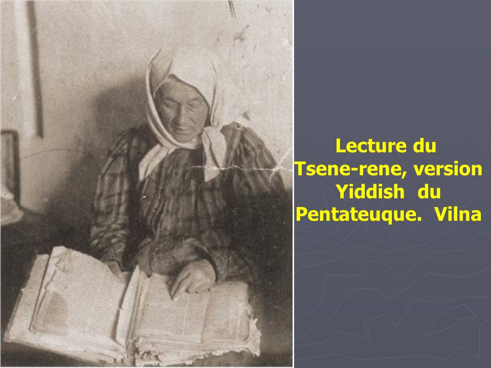 Tsene-rene, version Yiddish du Pentateuque. Vilna