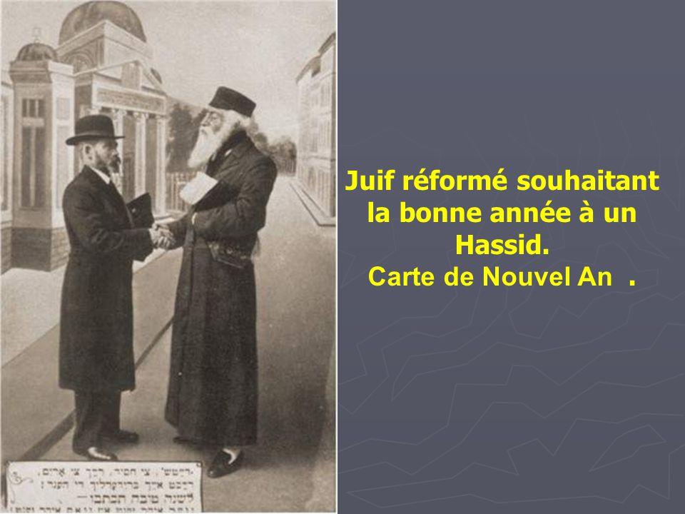 Juif réformé souhaitant la bonne année à un Hassid.