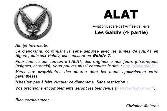 ALAT Aviation Légère de l'Armée de Terre Les Galdiv (4e partie)